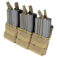 Triple stacker M4 Mag pouch, Open top, Coyote
