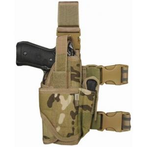 Drop Leg Holster, Pistols w/ Mounted Flashlights, Multicam