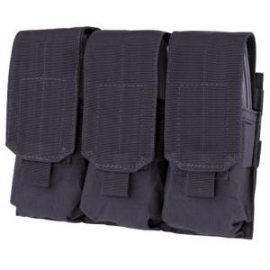 M16 Mag triple pocket pouch, holds 6 mags. Black